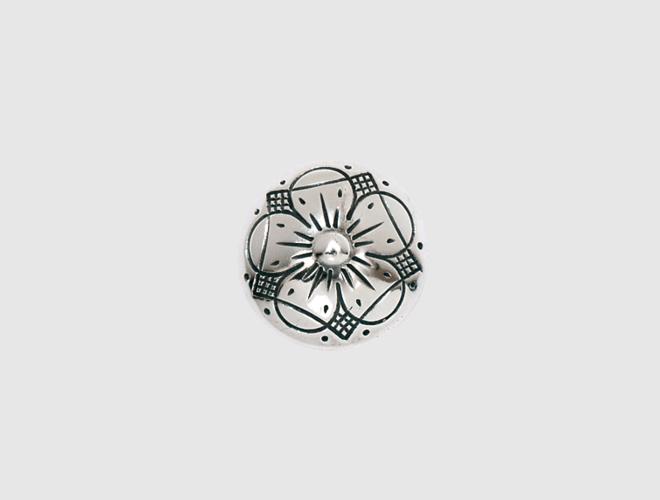 Knapp, oksidert, 19 mm
