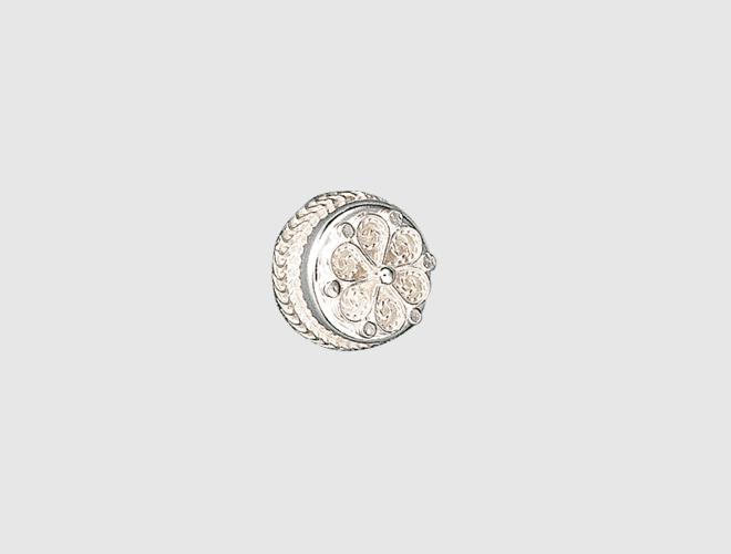 knapp 15 mm, kvit