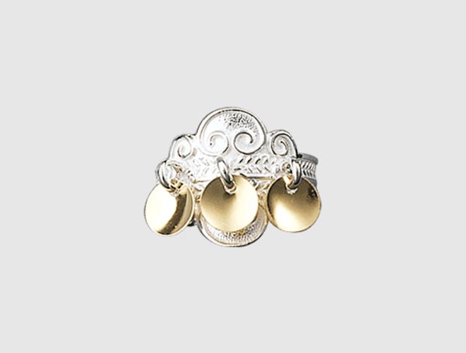 ring kvit/forgylt