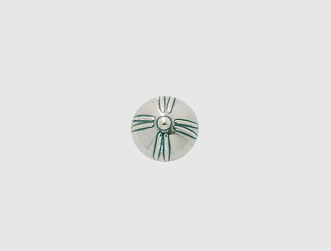 Knapp, m.botn Agder, oksidert, 13 mm