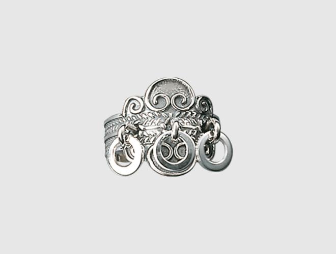 Ring, oksidert m. ringlauv