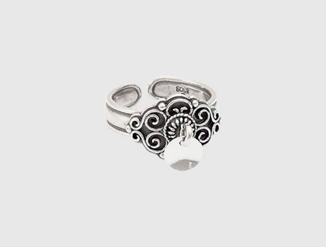 Ring, oksidert m. lauv