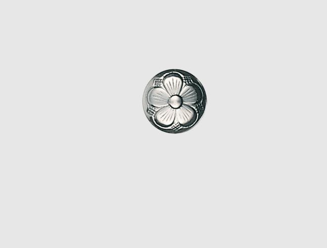 Knapp m. botn, oksidert, 13 mm