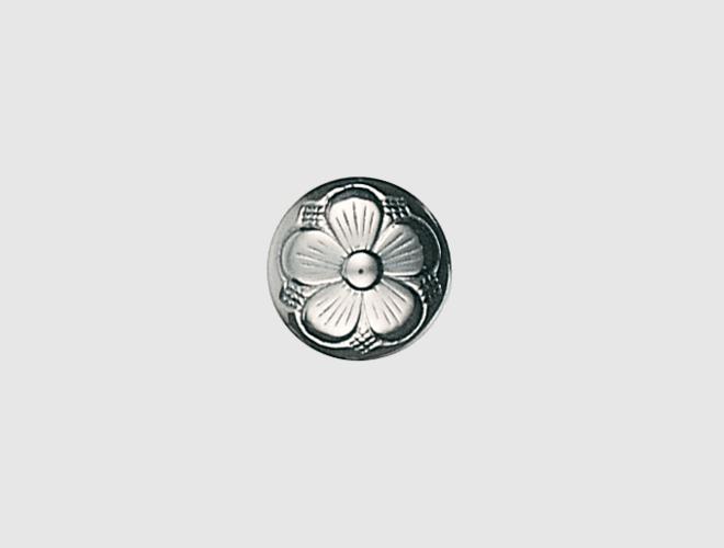 Knapp m. botn, oksidert, 15 mm