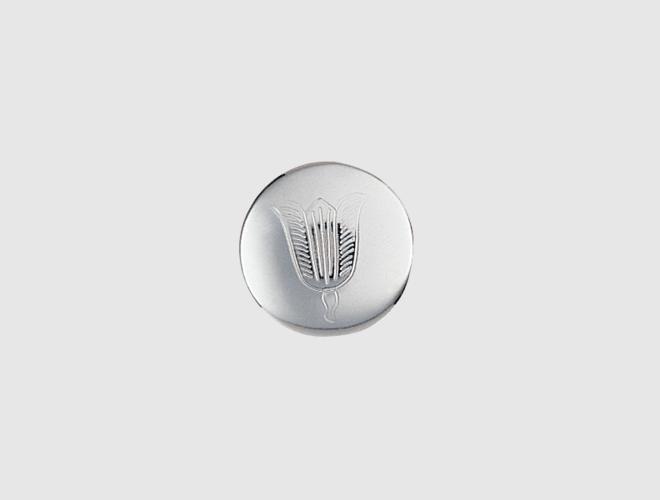 Knapp, Lofoten, kvit, 16 mm