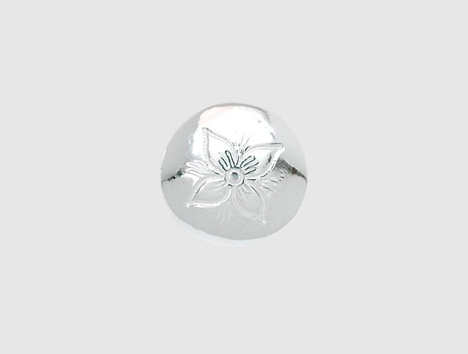 Knapp, Rogaland gravert, kvit, 17 mm