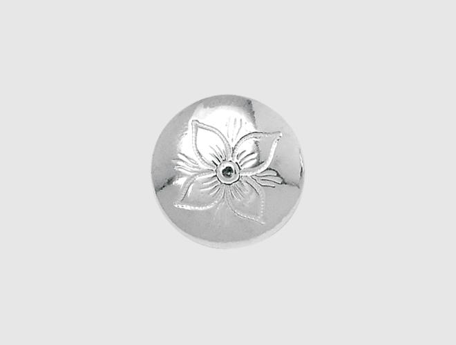 Knapp, Rogaland gravert, kvit, 19 mm