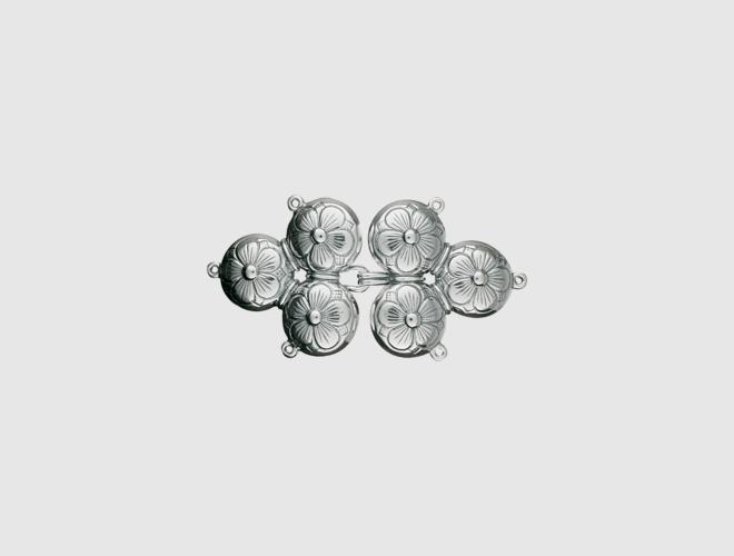 Capespenne, oksidert 3 kløverknappar