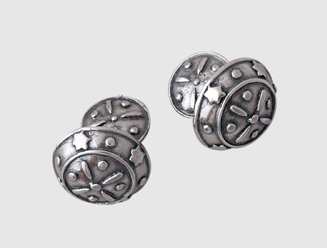 Troms sølv, mansj.knapp u/kule