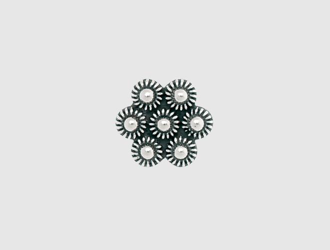 Knapp, oksidert, 18 mm