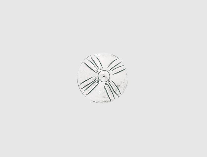 Knapp, m.botn Agder kvit 17 mm