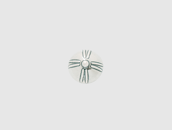 Knapp, m.botn Agder, kvit, 13 mm