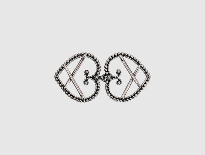 Beltespenne, oksidert til sølvbelte