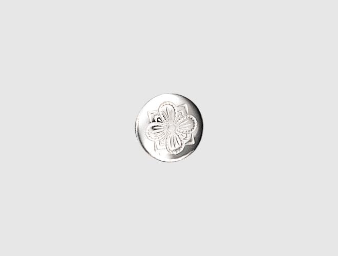 knapp 16 mm, kvit