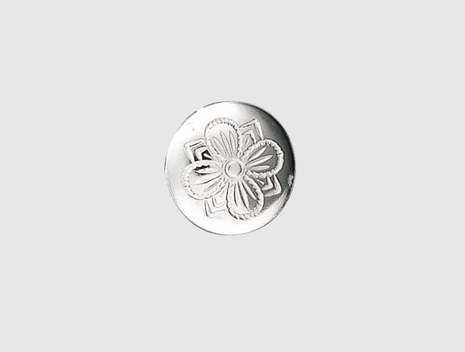 Knapp, kvit, 19 mm