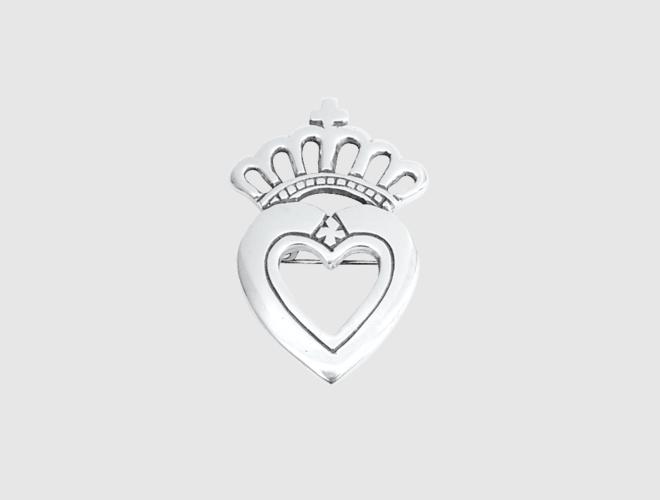 Brosje, Prinsesse, liten, kvit