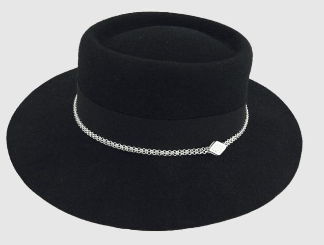 Hattekjede, standard lengde 60 cm, oksidert