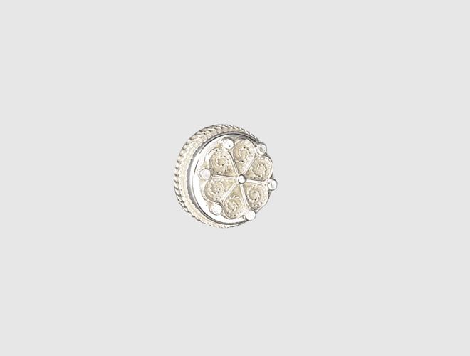 Knapp, m.botn kvit, 18 mm