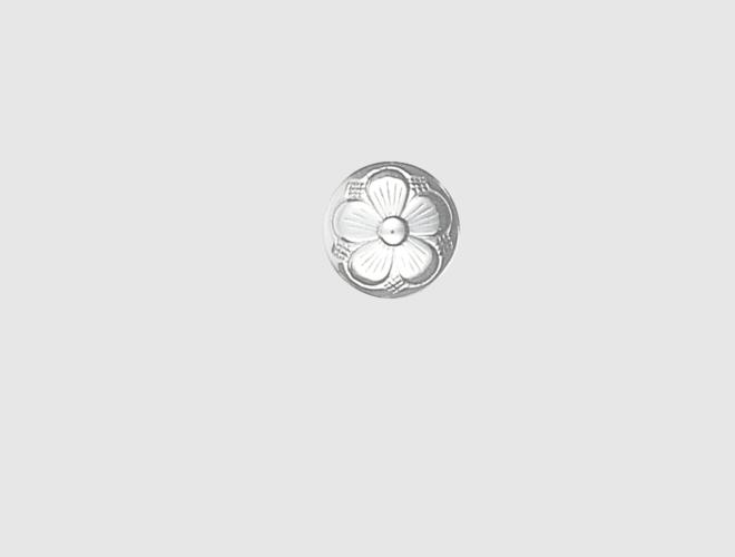 Knapp, kvit, 13 mm
