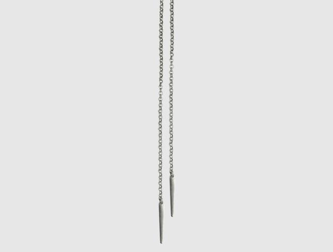 Kjede, 1 m, m spyd , Østfold, oksidert