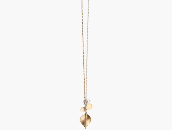 Charms smykke, bjørk, kvit/forg