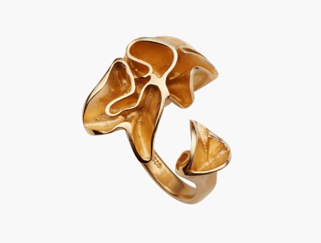 Ring, Lav, forgylt