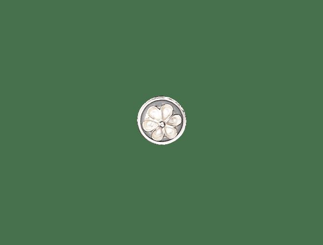 Knapp Aust-Agder 11 mm, kvit