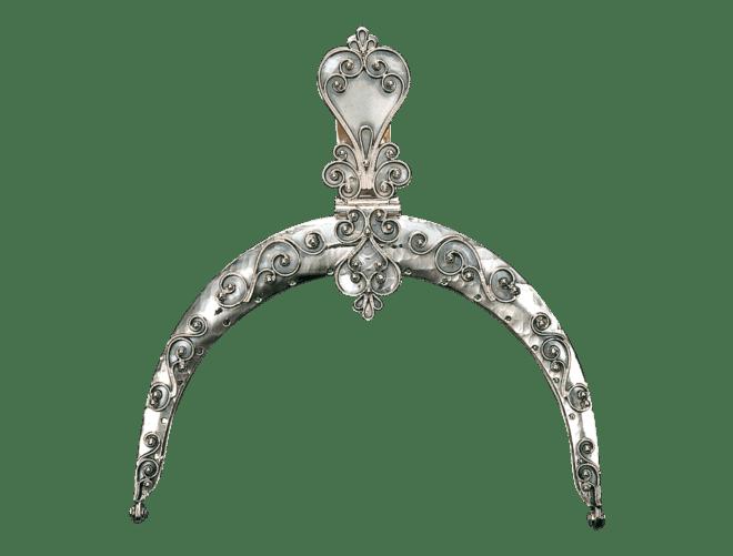 Veskelås, sølv oksidert