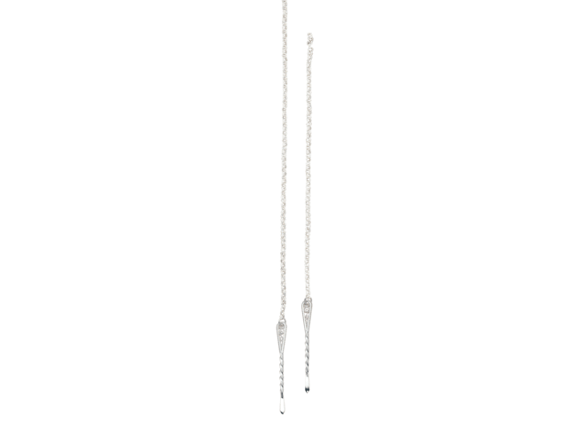 Kjede Bergen 1 m med spyd 614400, kvit