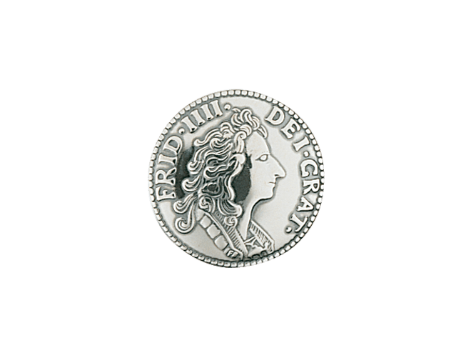 knapp mynt 19 mm, oksidert