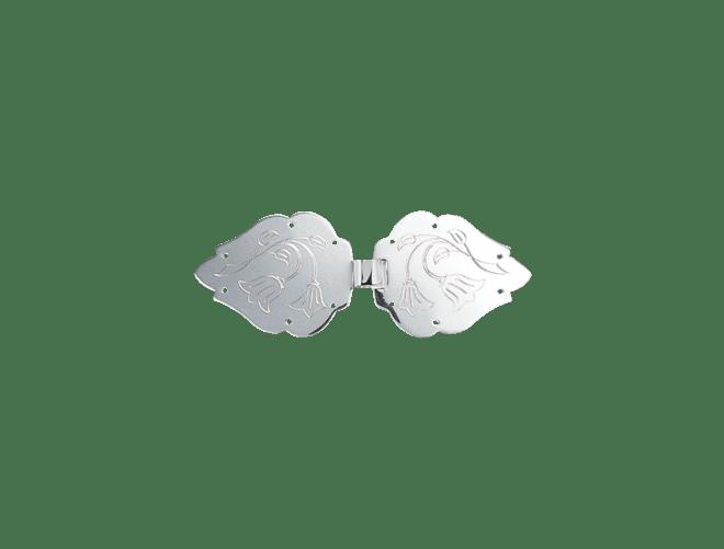 Spenne Lofoten gravert blåklokke, kvit