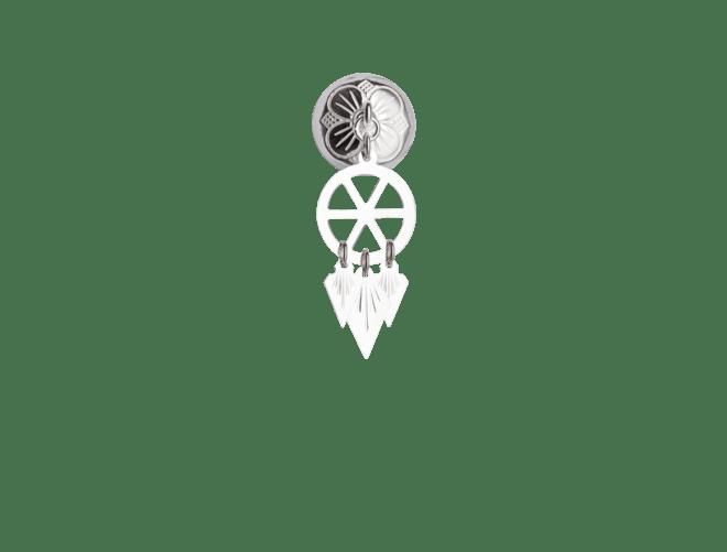 Halssølje med spirlauv, kvit