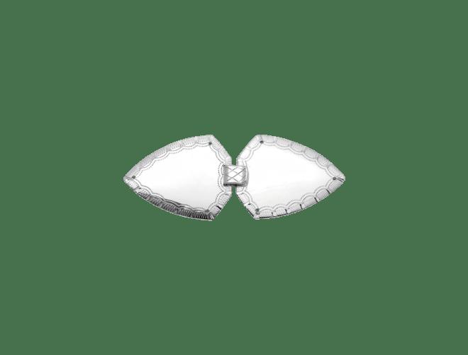 Vestspenne gravert, kvit