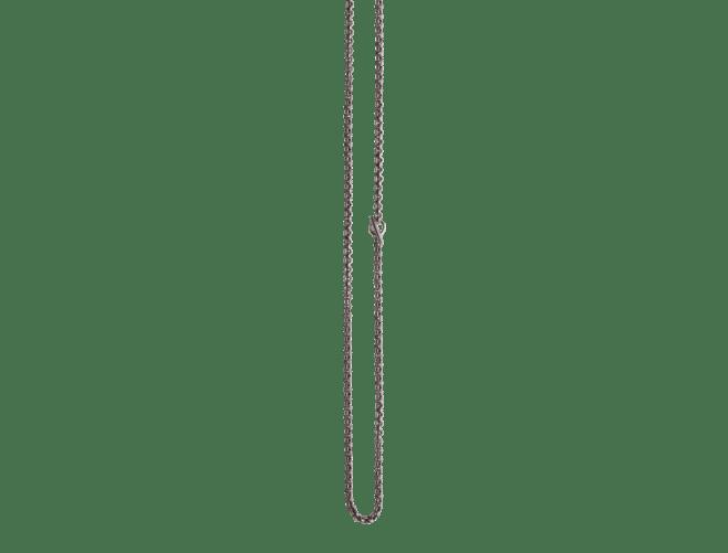 Kjede Trønder 80 cm med ring og spyd, oksidert