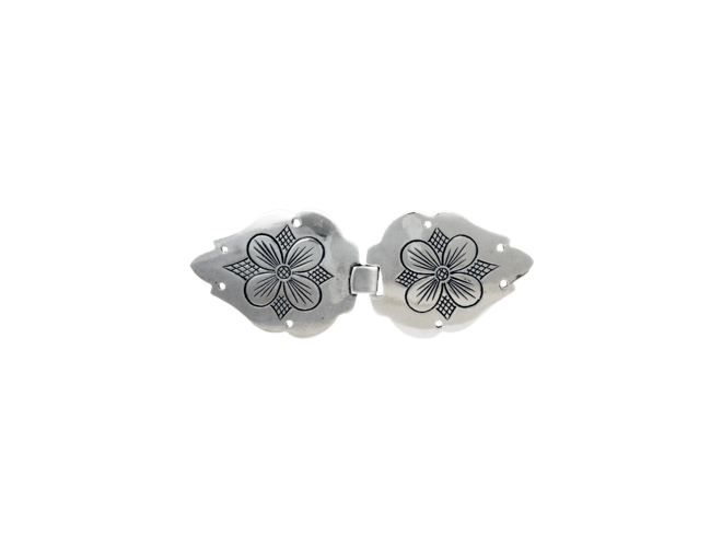 Vestspenne, oksidert kløver-rose