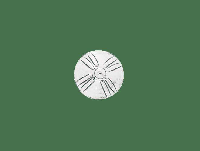 Agder knapp 17 mm, kvit