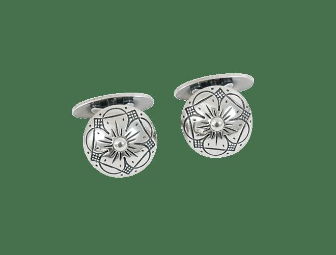 Mansjettknappar 17 mm, oksidert