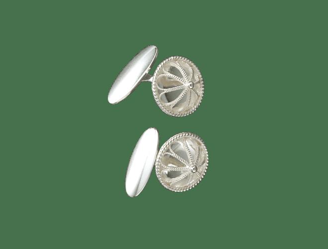 Mansjettknappar, kvit