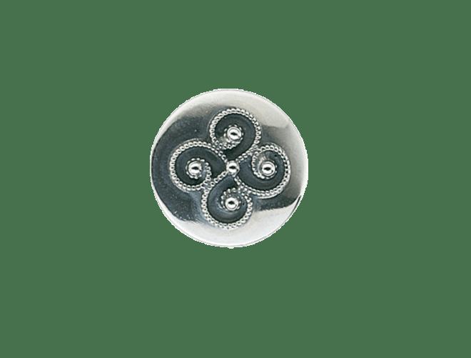 Knapp Rogaland 15 mm, oksidert