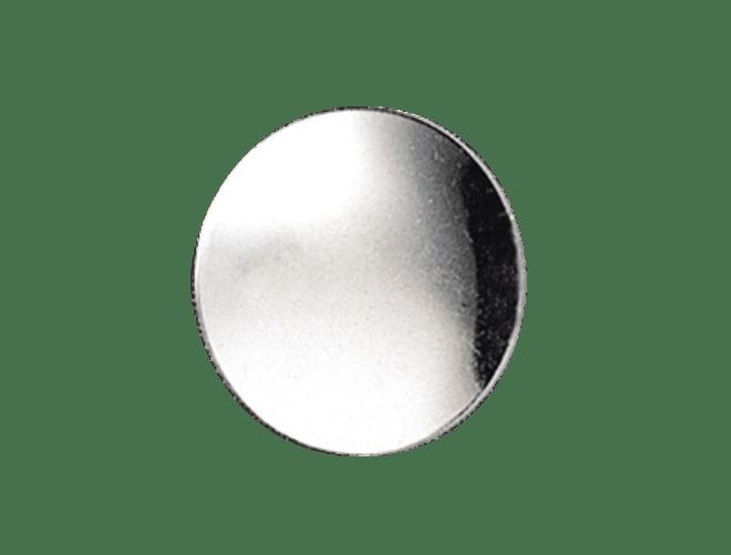 Knapp Voss  glatt 19 mm, kvit