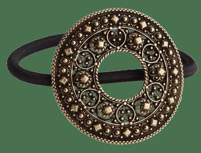 Hårstrikk i sølv - Trandem, gamalforgylt
