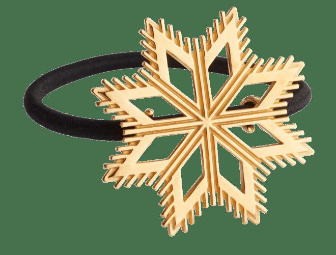 Hårstrikk i sølv - Åttebladrose, forgylt