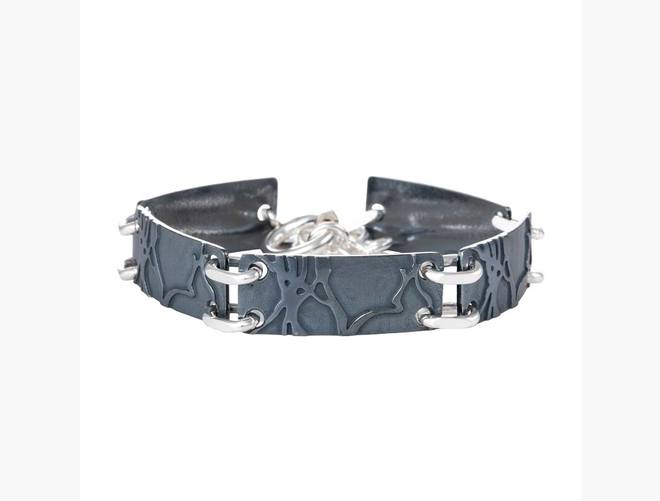 Armband Bjørk, oksidert/kvit