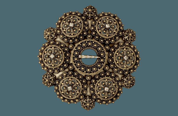 Symbolikken i bolesølja stammar frå den katolske tida. Dei 12 bolene viser til dei 12 disiplane og midtbolen er eit bilete på Jesus.